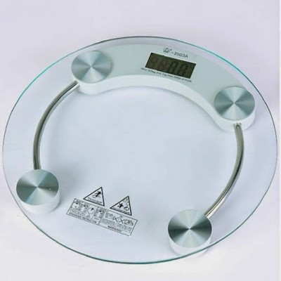 Venus Digital Thick Tempered Glass Body WGH112 Weighing Scale(White)