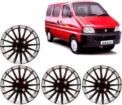 Auto Pearl Premium Quality Car Full Caps Black and Silver 13 Inches For - Maruti Suzuki Eeco Wheel Cover For Maruti Eeco