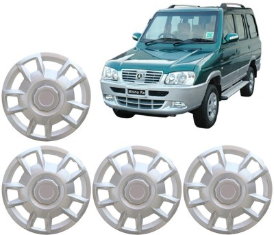 Auto Pearl Premium Quality Car Full Caps Silver 15 Inches For - Mahindra Rhino Wheel Cover For Mahindra NA