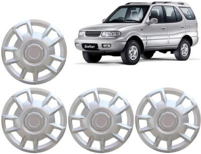 Auto Pearl Premium Quality Car Full Caps Silver 15 Inches For - Tata Safari Wheel Cover For Tata Safari