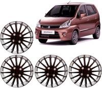 Auto Pearl Premium Quality Car Full Caps Black and Silver 13 Inches For - Maruti Suzuki Zen Estilo Wheel Cover For Maruti Zen Estilo