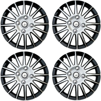 Auto Pearl Premium Quality Car Full Wheel Cover Caps Silver and Black 14 Inches Wheel Cover For Honda Jazz
