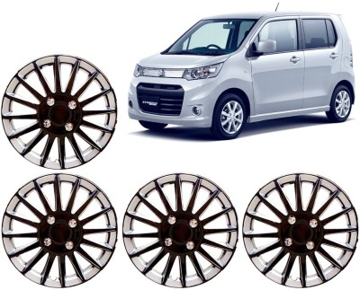 Auto Pearl Premium Quality Car Full Caps Black and Silver 13 Inches For - Maruti Suzuki WagonR Stingray Wheel Cover For Maruti WagonR