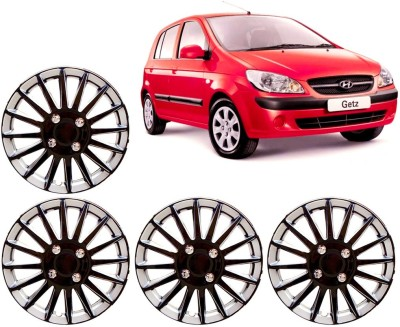 Auto Pearl Premium Quality Car Full Caps Black and Silver 13 Inches For - Hyundai Getz Wheel Cover For Hyundai Getz