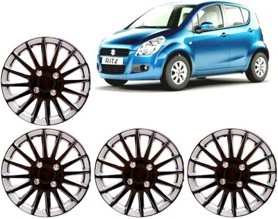 Auto Pearl Premium Quality Car Full Caps Black and Silver 14 Inches For - Maruti Suzuki Ritz Wheel Cover For Maruti Ritz
