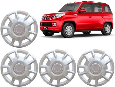 Auto Pearl Premium Quality Car Full Caps Silver 15 Inches For - Mahindra TUV 300 Wheel Cover For Mahindra NA
