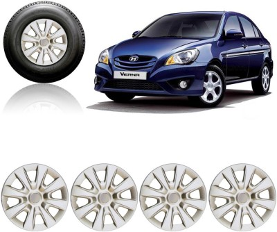 Auto Pearl Premium Quality Car Full Caps Silver 14Inches Wheel Cover For Hyundai Verna