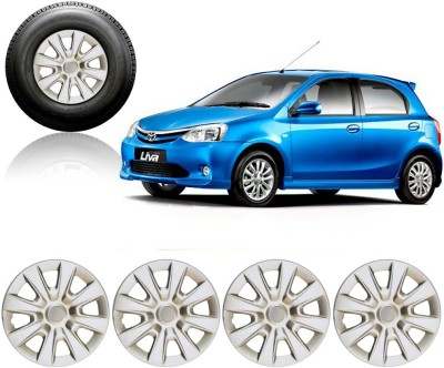 Auto Pearl Premium Quality Car Full Caps Silver 14Inches Wheel Cover For Toyota Etios Liva