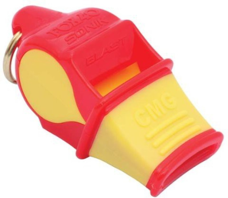 Fox 40 Sonik Blast CMG safety with lanyard Pealess Whistle(Red, Yellow, Pack of 1)