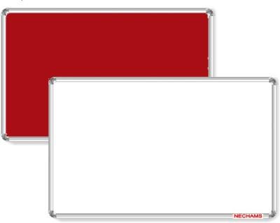 Nechams Non Magnetic Fabric Melamine 1.5 ft x 2 ft Whiteboards