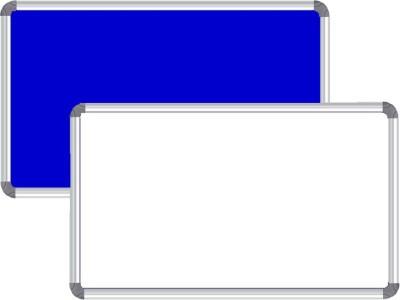 Nechams Non Magnetic Fabric Melamine 2 ft x 1 ft Whiteboards