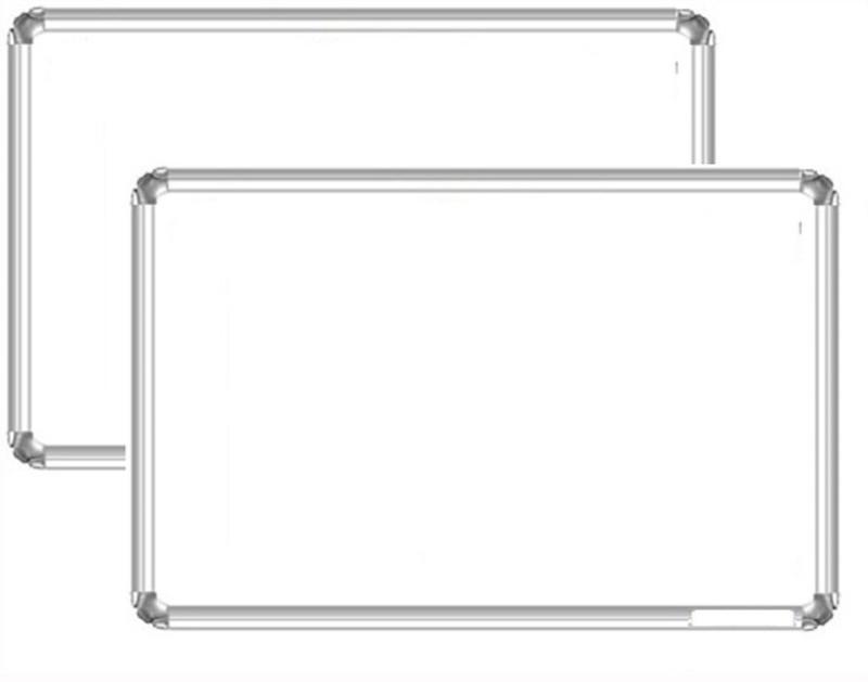 Bansal Paper Industries Interactive Magnetic Non Melamine Medium Whiteboards(Set of 2, White)