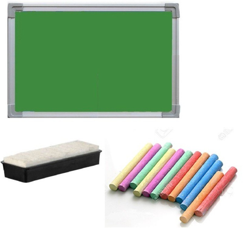 Action World Non Magnetic chalk board 60x60cm medium Greenboards(Set of 1, Green)
