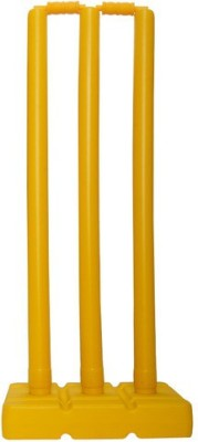 Fitness Solutions Plastic stump set for cricket lovers(Yellow)