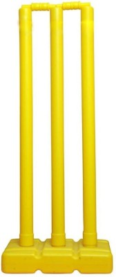 National Sports Plastic stump set for cricket lovers(Yellow)