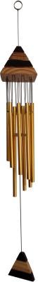 Fabionic Aluminium, Wooden Windchime(25.5 inch, Gold)