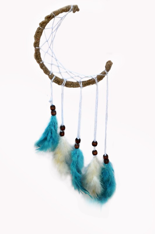 Paperiva Dream catcher Wool Windchime(20 inch, Multicolor)