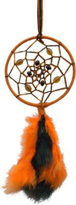 Paperiva Dream Catcher Wool Windchime(14 inch, Multicolor)