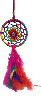 Paperiva Dream Catcher Wool Windchime(10 inch, Multicolor)