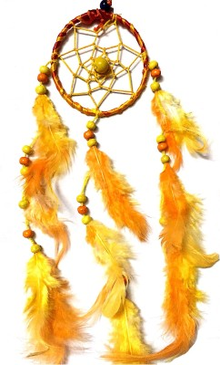 Prakki Dream Catcher Wooden, Wool Windchime(6 inch, Orange)