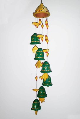 Mabkraft Terracotta Windchime(25 inch, Multicolor)
