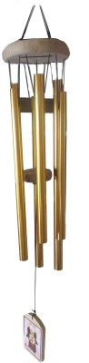 Plus Value Feng Shui Vastu Wind Chime 7 Pipes / Rods for positive vibrations Vastu Product Aluminium Windchime(9 inch, Gold)