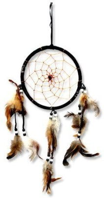 7 Ocean Feng shui feather dream catcher (7 inch) Wool Windchime(7 inch, Multicolor)