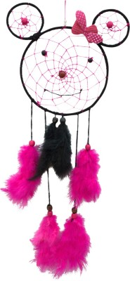 Paperiva Dream Catcher Wool Windchime(19 inch, Multicolor)
