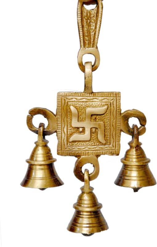 Si Diesel Brass Windchime(12 inch, Gold)