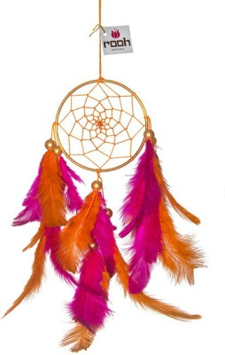 Rooh Wellness Wool Windchime(19 inch, Orange, Pink)
