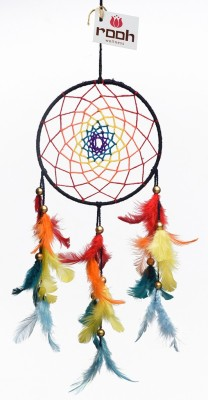 Rooh dream catcher Dream catcher by Rooh Wellness - healing chakras Wool Windchime(14 inch, Orange, Green, Yellow, Blue)