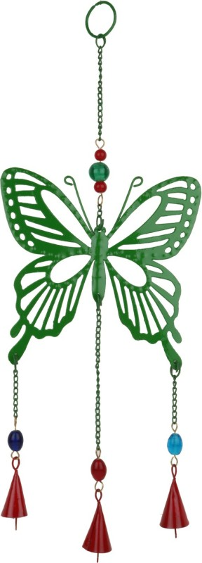Trendsandgifts Indoor And Out Door Use Iron Windchime(18 inch, Green)