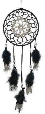 Paperiva Dream Catcher Wool Windchime(20 inch, Blue)