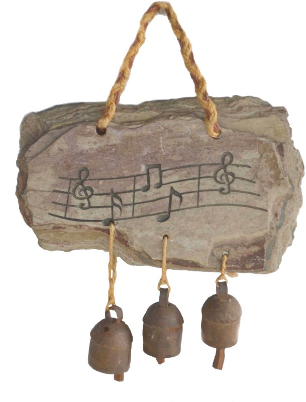 Niksang Arts Stoneware Windchime(7 inch, Beige)