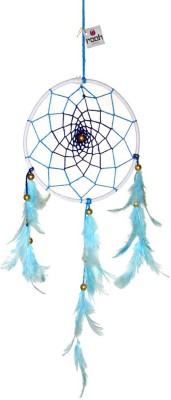 Rooh dream catcher Wool Windchime(12 inch, Blue, White)