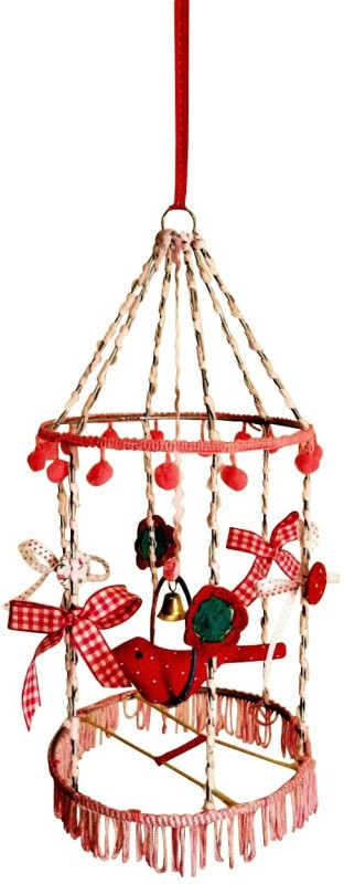 Creative Textiles Iron Windchime(14 inch, Pink)