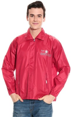 Monsuun ALSKJ-15-04R-Red Printed Men's Raincoat
