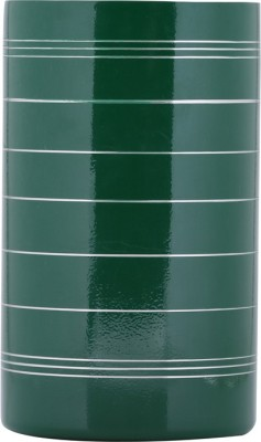 Montstar Double Wall Beverage Chiller In Green Powder Coated Finish & Spiral Design - 12 X20 Cm Free Standing Wine Cooler