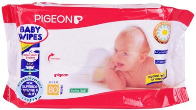 Pigeon Baby Wipes Chamomile(80 Pieces)
