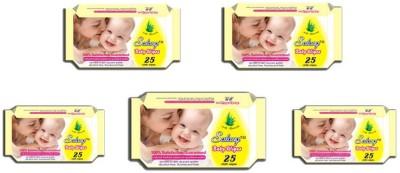 Salang Baby Wipes Aloveera 25Pcs(Pack of 5)
