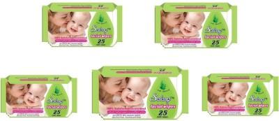Salang Aloveera Facial wipes 25pcs(Pack of 5)