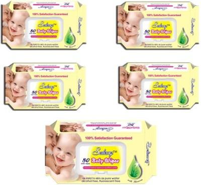 Salang Aloveera Baby wipes 80PCS(Pack of 5)