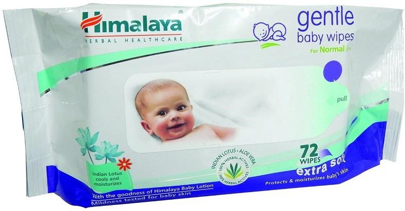 Himalaya Herbals Gentle Baby Wipes 72 Pieces(1 Pieces)