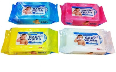 Huskey Baby Cotton Wipes(4 Pieces)