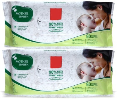 Mother Sparsh Baby Wipes (Pack of 2)