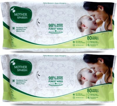 Mother Sparsh Baby Wipes (Pack of 2)(2 Pieces)