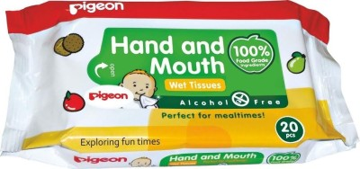 Pigeon Hand and Mouth 2 in 1 Wipes(20 Pieces)