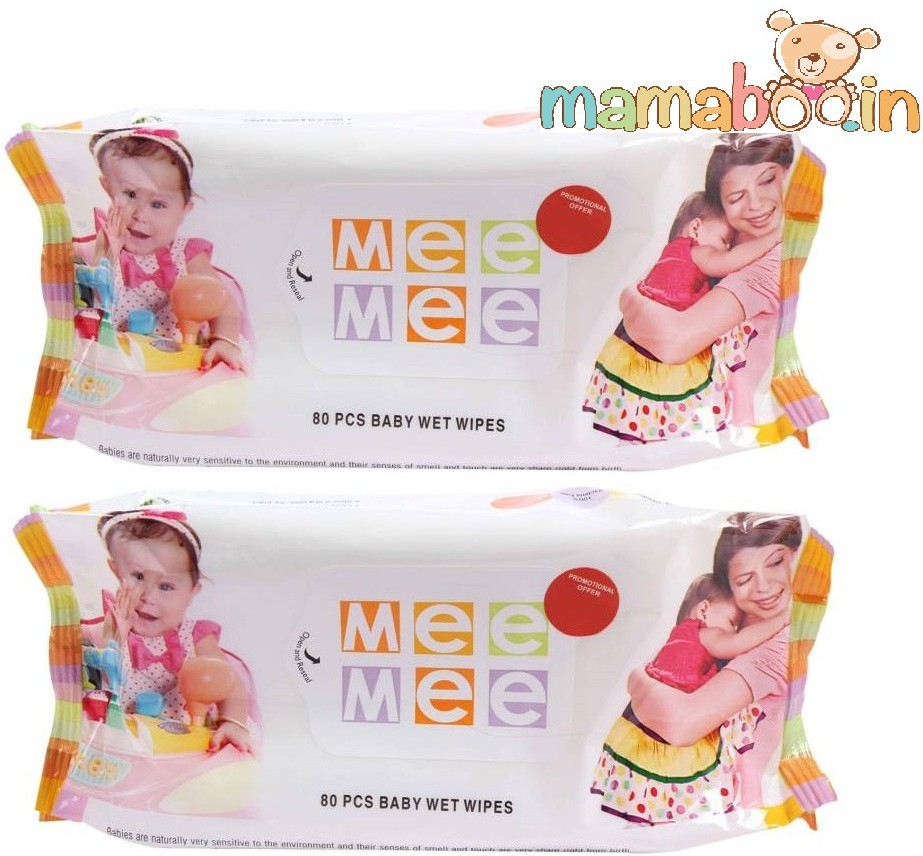 Mamaboo Mee Mee 80 PCS Caring Baby Wet Wipes(2 Pieces)