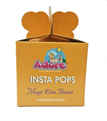 Adore INSTA POPS Compressed Coin Tissues- 50pc pack