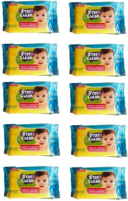 Nuby Baby Wet Wipes (Pack of 10 - 300 Wipes)